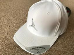 Air Jordan Stretch Fitted Hat 20th Anniversary White Size L/