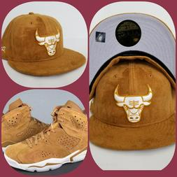 New Era Suede Chicago Bulls fitted hat Jordan 6 Wheat Golden