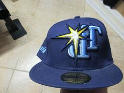TAMPA BAY RAYS NEW ERA 5950 FITTED HATS SZ  NWT $35 BLUE NEW