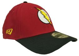 The Flash Red Gold Symbol 39Thirty New Era Fitted Hat - Larg