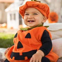 For Toddler Baby Girl Halloween Costume Sleeveless Pumpkin P