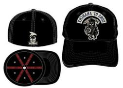 TV Series SOA Sons of Anarchy Applique Art Stretch Black Fit