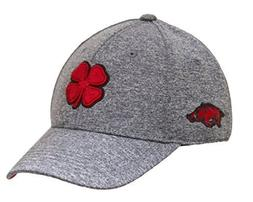 University Of Arkansas Razorbacks Black Clover Grey Heather