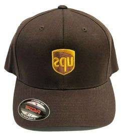 UPS Brown Flex Fitted Cap Hat Delivery United Parcel Service