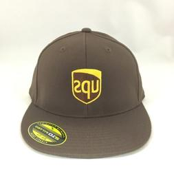 UPS Flexfit Fitted Cap Premium 210 Fitted Hat Brown 7 1/4 -