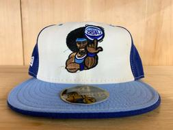 VINTAGE NEW ERA LOS ANGELES LAKERS FITTED HAT CAP BLUE WHITE