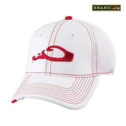 Drake Waterfowl Game Day Fitted Hat Arkansas White & Red XL/
