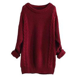 Londony ♥‿♥ Women's Cashmere Loose Long Sleeve Crewnec
