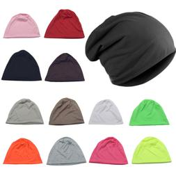 Womens Mens Slouch Beanie Hat Baggy Stretch Fit Warmer Ski K