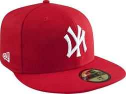 New Era Yankees Wool Baseball Cap  - red/white, 7 3/8 - 58.7