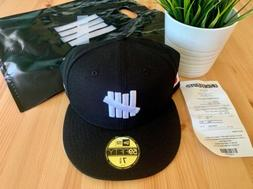 Undefeated X NE Icon Fitted Cap 7 5/8 Black 2020 Japan NEW D